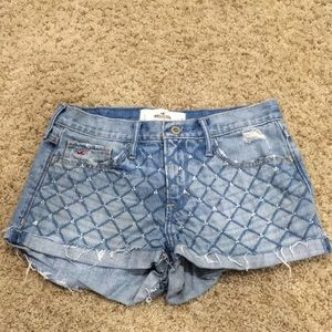 denim hollister shorts size 3